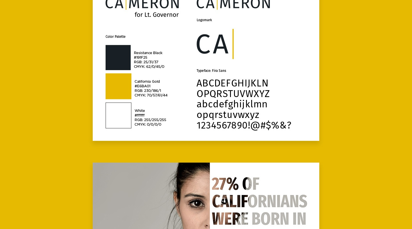 Cameron For California Brand Guidelines